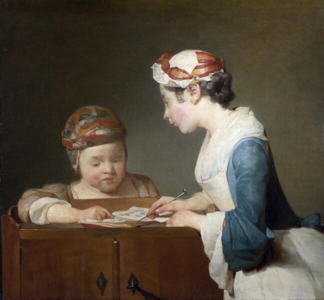 Жан Батист Симеон Шарден, «Молодая учительница», 1740-е гг.