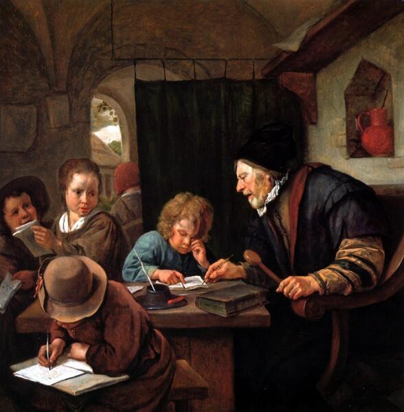 Ян Стен, «Строгий учитель», 1668г.