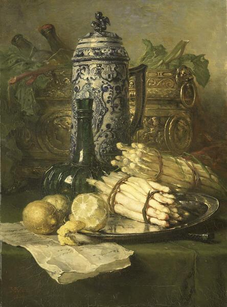 Мария Вос, «Натюрморт с керамической кружкой», ХIХ век