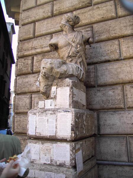 Рим, статуя Пасквино