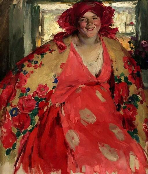 А. Е. Архипов, «Веселая девушка», 1920 г.