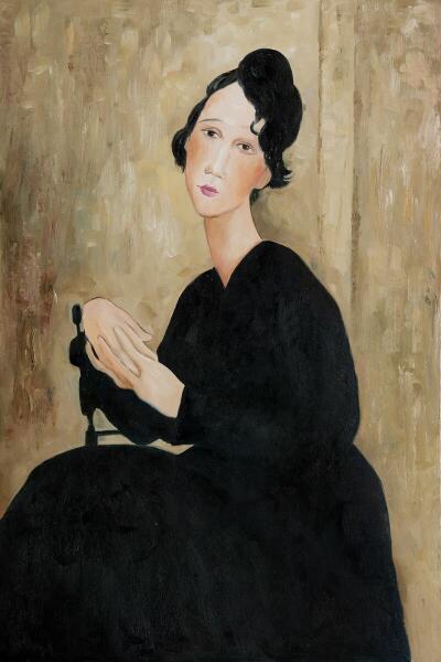 Амедео Модильяни, «Портрет мадам Хайден», 1918 г.