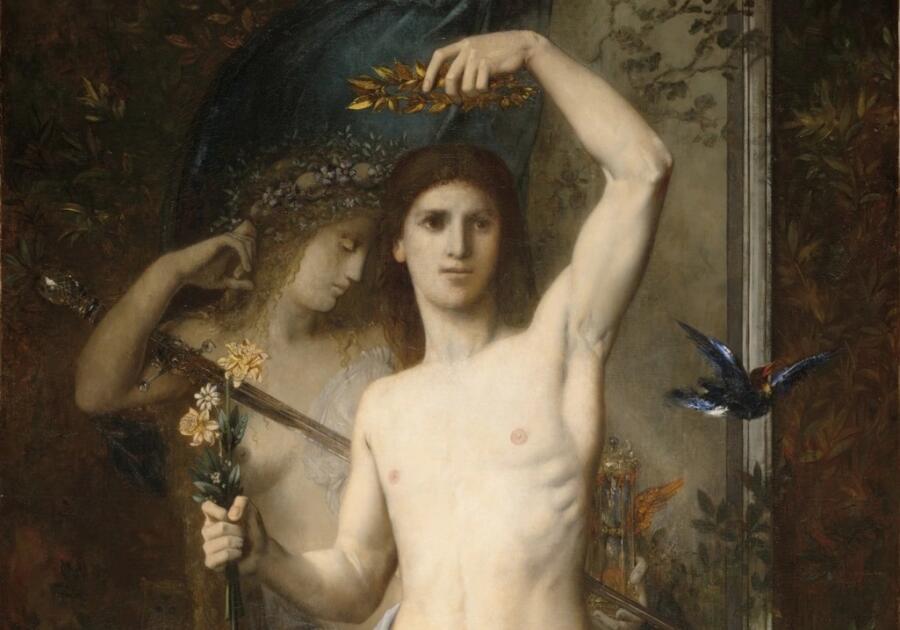 Гюстав Моро, «Юноша и Смерть» (фрагмент), 1865 г.
