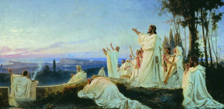 Ф. А. Бронников, «Гимн пифагорейцев солнцу», 1869 г.