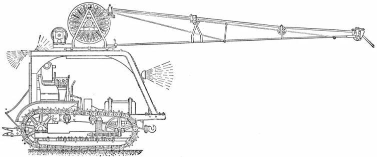 Эскиз электротрактора ВИМЭ-2