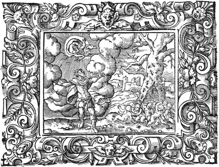 Виргиль Солис, «Люди из муравьев», иллюстрация к «Метаморфозам» Овидия, книга седьмая, 1581 г.