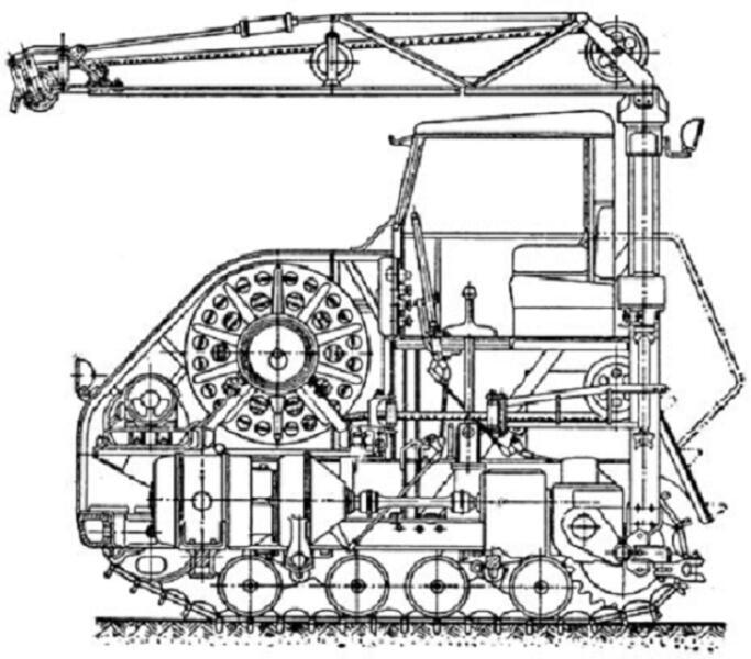 Эскиз электротрактора ЭТ-5