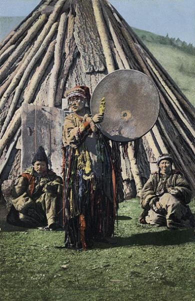Шаманка с бубном (начало XX века)