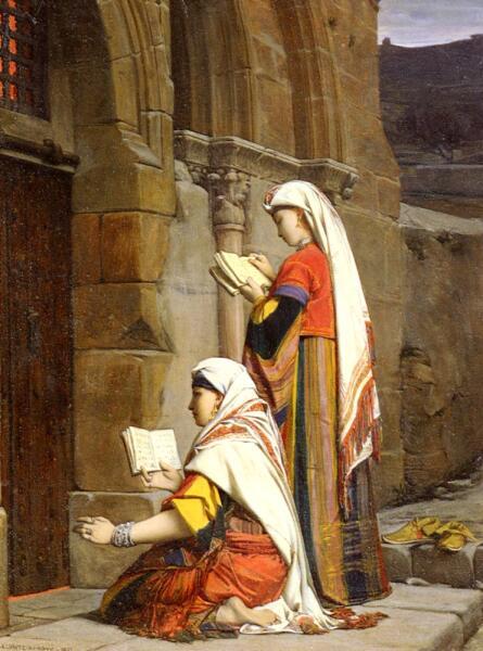 Жан-Жюль-Антуан Леконт дю Нуи, «Христианки у гробницы Богородицы», 1871 г.