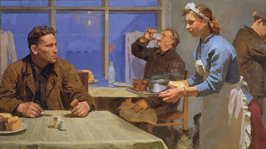 Р. А. Кобозев, «В столовой», 1960 г.
