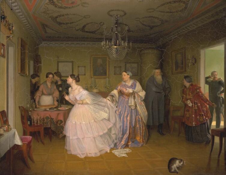 П. А. Федотов, «Сватовство майора», 1848 г.