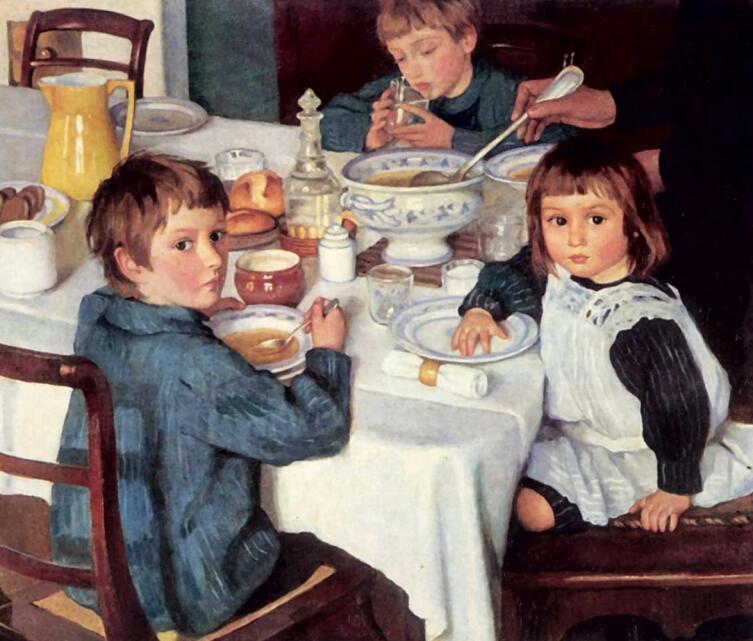 З. Е. Серебрякова, «За завтраком», 1914 г.