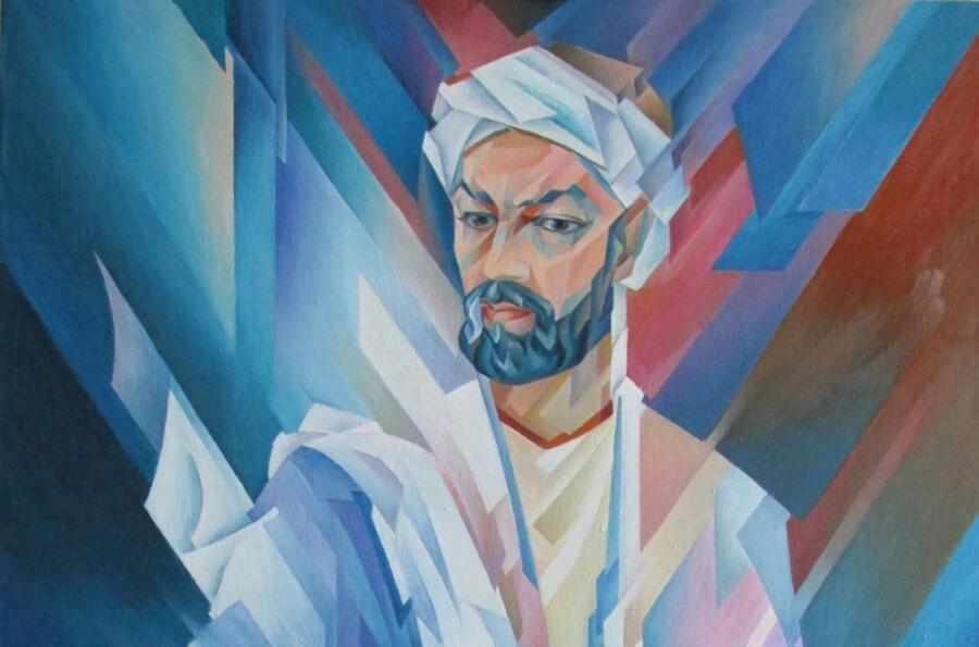 Закир Джабирович Сабиров, ««Авиценна» Абу Али ибн Сино»,  (фрагмент), 2014 г.