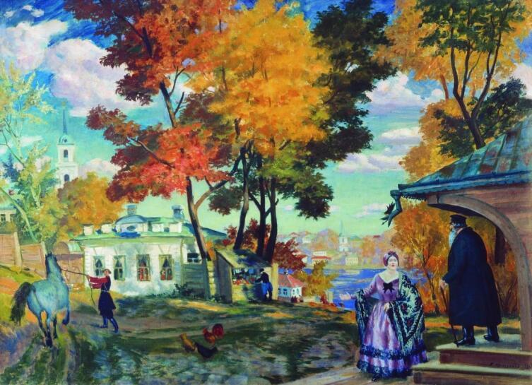 Б. М. Кустодиев, «Осень», 1924 г.
