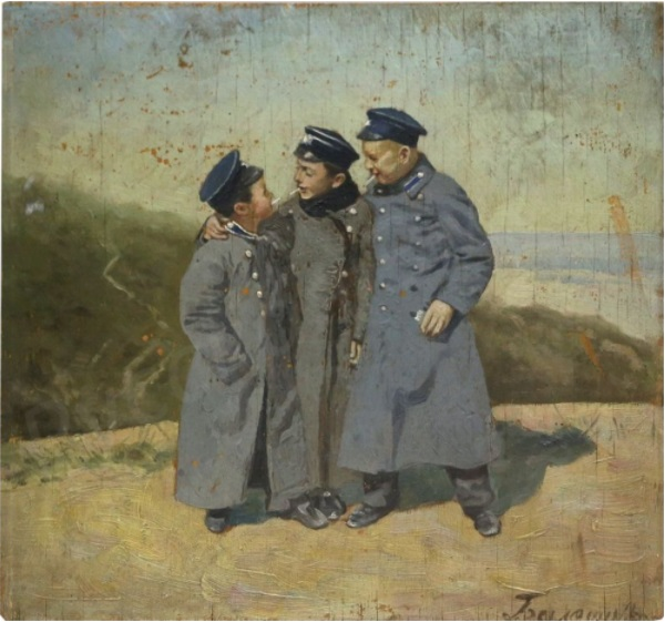 Неизвестный художник, «Гимназисты», ХIХ век