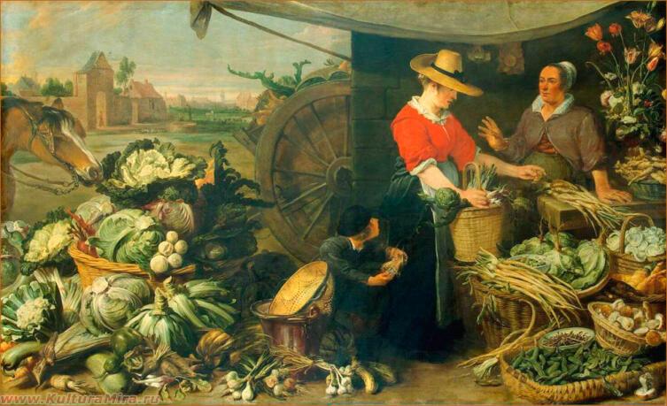 Франс Снейдерс, «Овощная лавка», 1618-1621 гг.