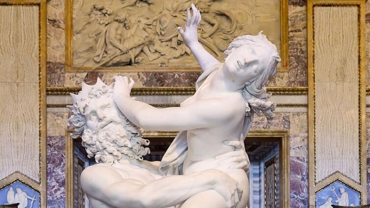 Джованни Лоренцо Бернини, «Похищение Прозерпины», (фрагмент)
