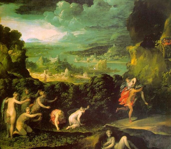 Николо дель Аббате, «Похищение Прозерпины», XVI век