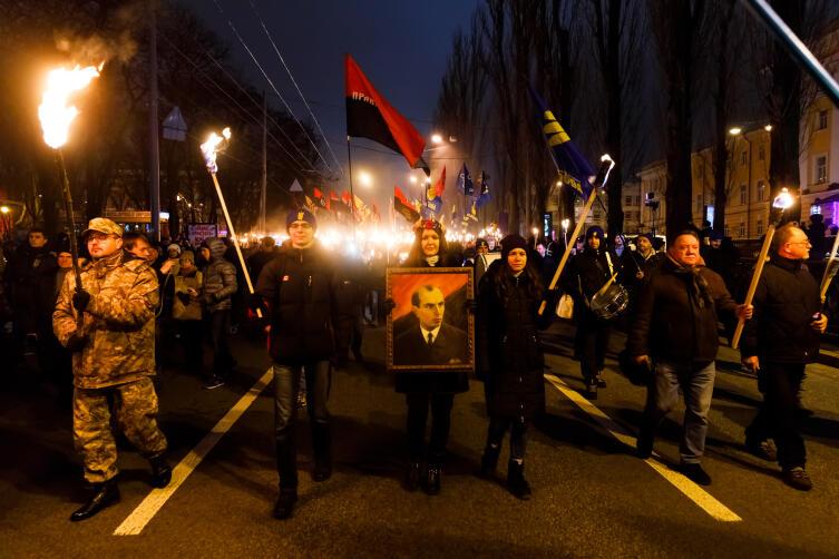109 лет со дня рождения Степана Бандеры в Киеве