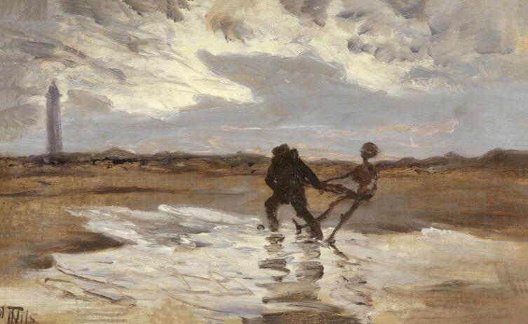 Торвальд Нисс, «Призрак утопленника пытается утянуть под воду новую жертву»