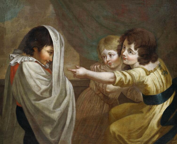 Неизвестный художник, «Мальчик притворяется призраком», 1600-е гг.