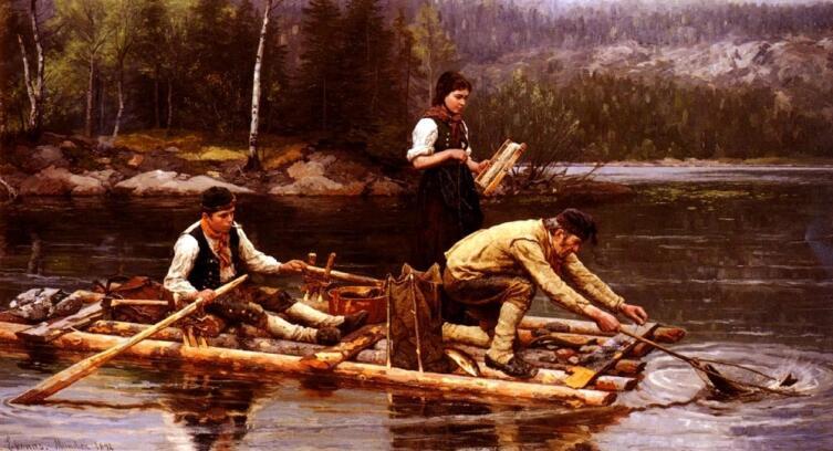 Ян Экенаес, «Ловля рыбы»