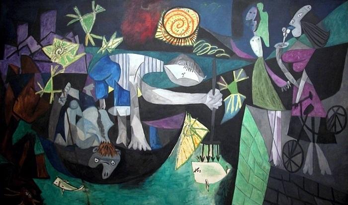 Пабло Пикассо, «Ночная рыбалка на Антибах», 1939 г.