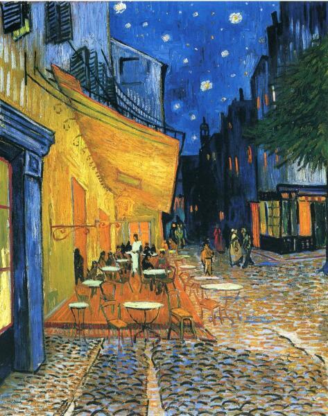 Винсент Ван Гог, «Ночная терраса кафе в Арле», 1888 г.