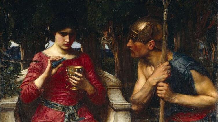 Джон Уотерхаус, «Ясон и Медея» (фрагмент), 1907 г.