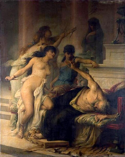 Жорж Моро де Тура, «Убийство Пелия его дочерьми», 1878 г.
