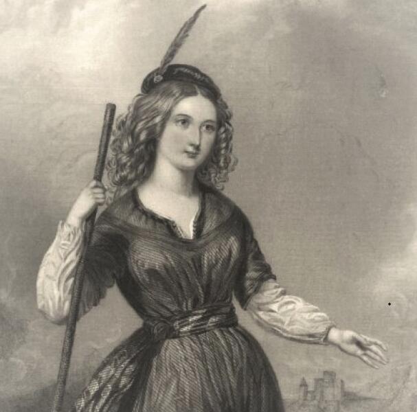 Иллюстрация к книге В. Скотта «Карл Смелый, или Анна Гейерштейнская, дева мрака»