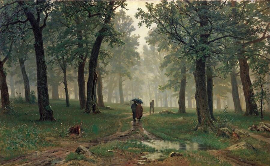 И. И. Шишкин, «Дождь в дубовом лесу», 1891 г.