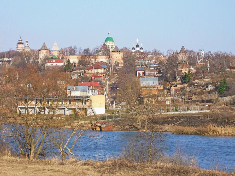 Вид на Зарайский Кремль
