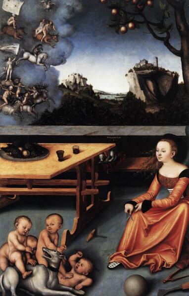 Лукас Кранах Старший, «Аллегория меланхолии», 1528 г.