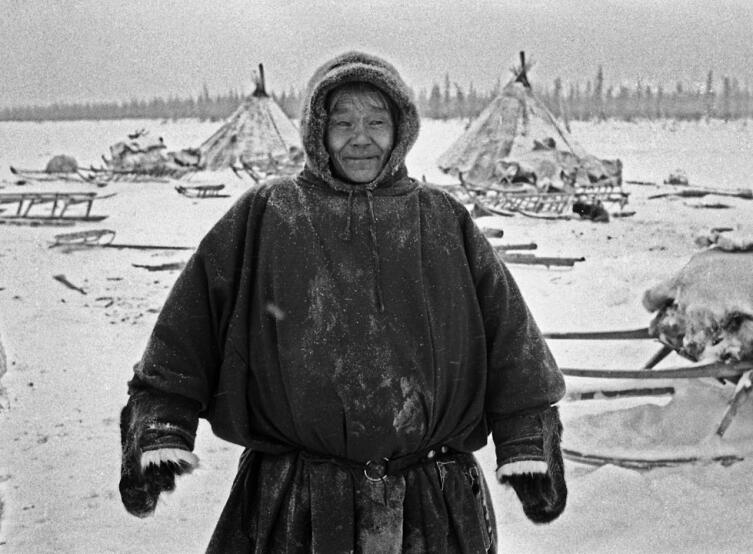 Оленевод в малице. Ямал, 1982 г.