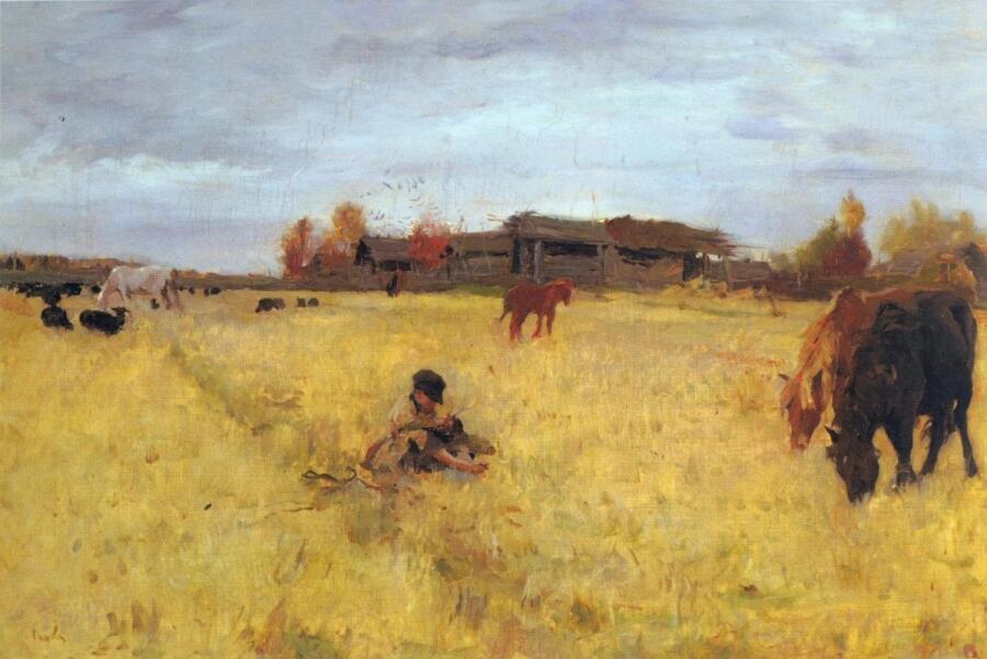 В. А. Серов, «Октябрь. Домотканово», 1895 г.