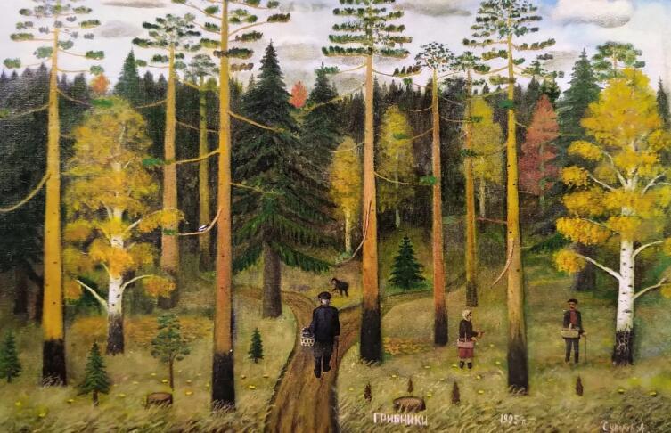 А. В. Суворов, «Грибники», 1995 г.
