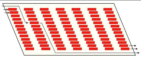 Схема расстановки и схема движения автомобилей в гараже
