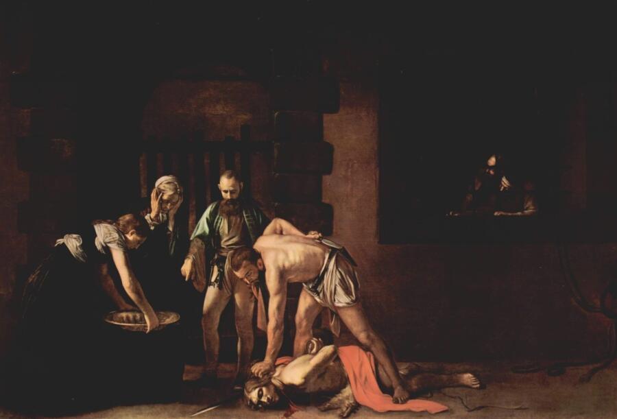 Микеланджело Меризи де Караваджо, «Обезглавливание Иоанна Крестителя», 1608 г.