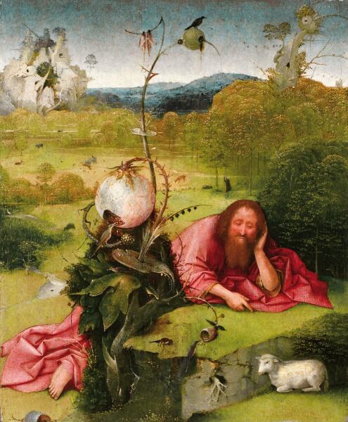 Иероним Босх, «Святой Иоанн Креститель в пустыне», 1489 г.