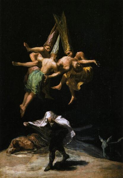 Франсиско Гойя, «Ведьмы в воздухе», 1798 г.