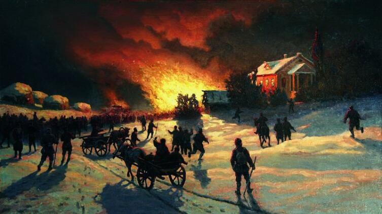 Е. Волков, «Пожар», 1905 г.