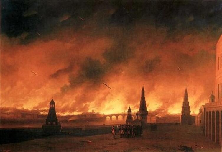 И. К. Айвазовский, «Пожар Москвы 1812 года», 1851 г.