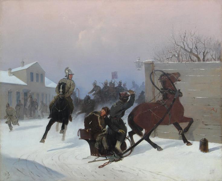 Г.С. Дестунис, «Выезд пожарной команды», 1858г.
