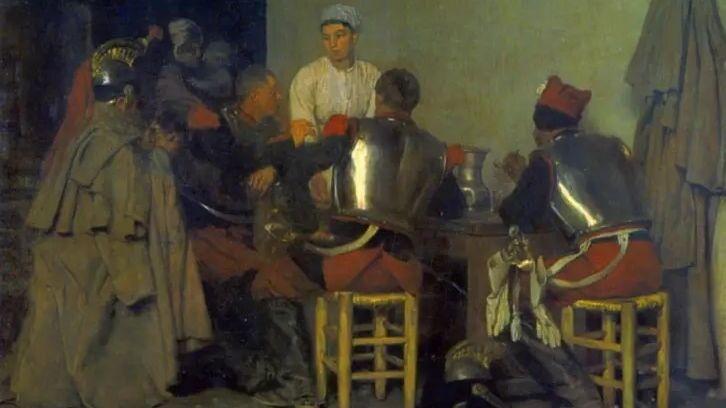Гийом Регамей, «Кирасиры в таверне»