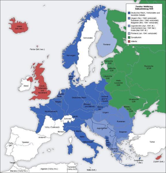 Европа к началу Великой Отечественной