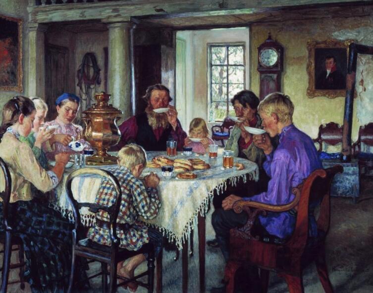 Н. П. Богданов-Бельский, «Новые хозяева», 1913 г.