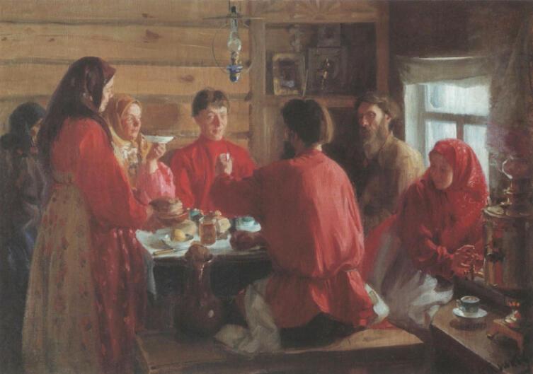 И. С. Куликов, «В крестьянской избе», 1902 г.