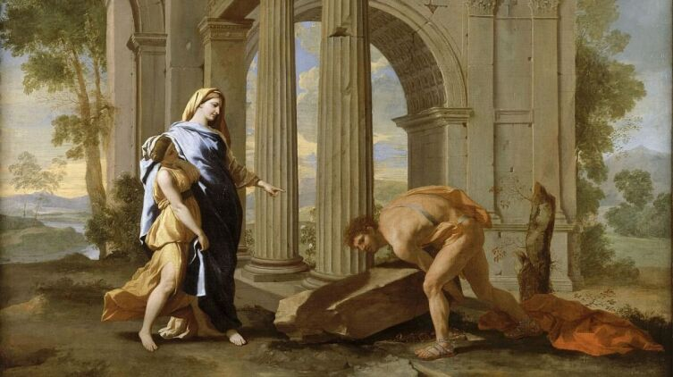 Никола Пуссен, «Тесей находит меч своего отца», 1638 г.