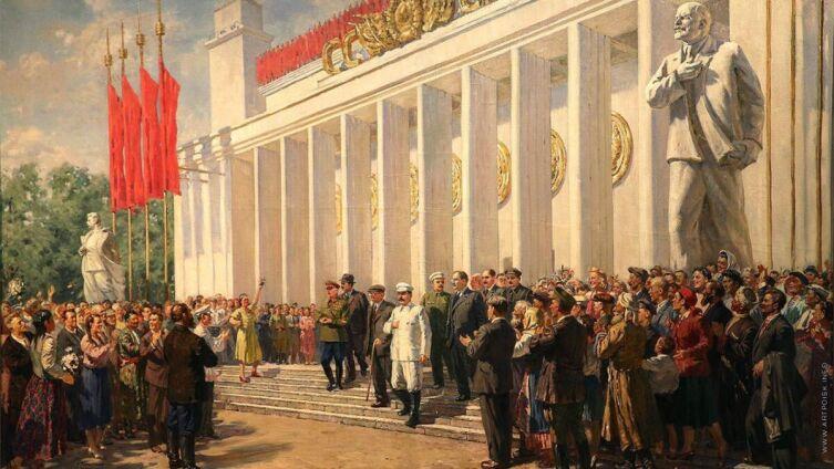 А. М. Герасимов, «Главный павильон ВСХВ», 1940-е гг.